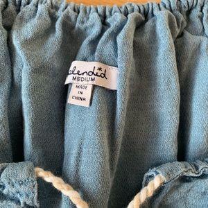 Splendid Pants - NWOT Splendid chambray Romper